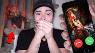 CALLING EVIL CHUCKY DOLL FROM DARK WEB ON FACETIME AT 3 AM!! *SCARY*