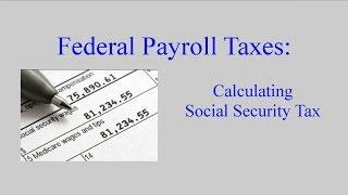 Payroll Tax:  Social Security Taxes
