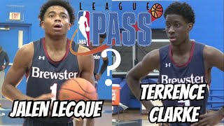 LEAGUE PASS! Jalen Lecque & Terrence Clarke TURN UP in Front of NBA Scouts - NERR Showcase