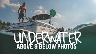 How to get ABOVE AND BELOW underwater photos!