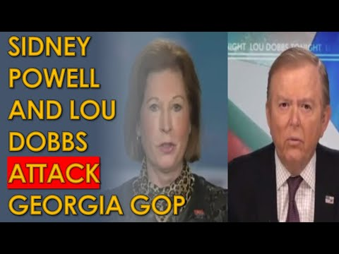 Sidney Powell and Lou Dobbs Interview ATTACKS Georgia Republicans