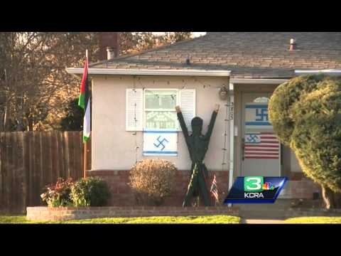 Swastika display at River Park home angers neighbors
