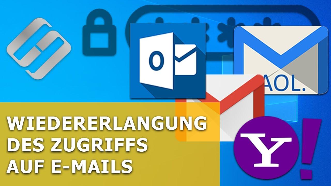Wiedererlangung des Zugriffs auf E-Mails ohne Benutzernamen und Kennwort