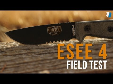 "ESEE Knives ESEE-4P-MB-DT Wilderness Knife w/ MOLLE Back (4.5"" Tan Plain)"