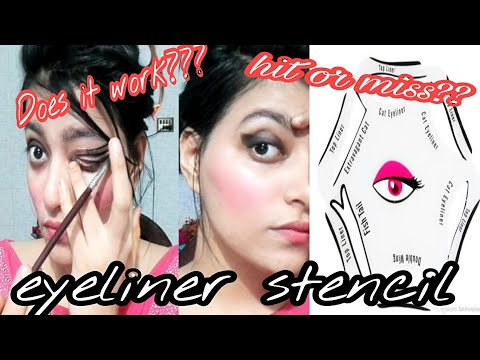 How To Use Eyeliner Stencil | Stencil Tutorial | Does It Works???