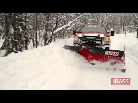 Power-V Snow Plow in Action