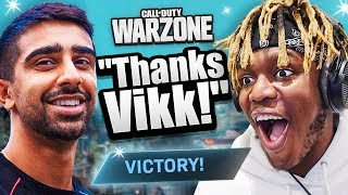 Helping KSI WIN his 1ST WARZONE GAME! (CoD BR)