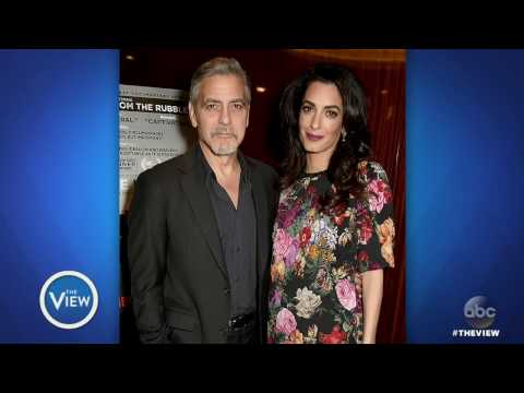 George And Amal Clooney Expecting Twins   The View