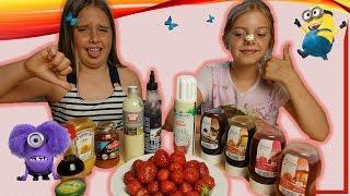 ЯГОДНЫЙ ЧЕЛЛЕНДЖ! Вызов принят: клубника с хреном, горчицей и другими соусами. Challenge strawberry.