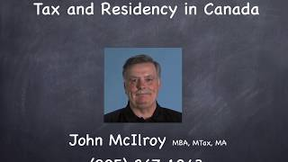 Tax and Residency in Canada