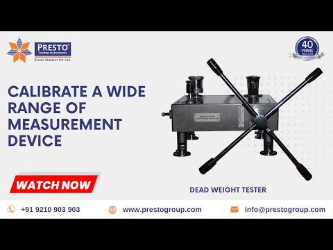 Presto Dead Weight Pressure Gauge Tester - PDW 10 Series