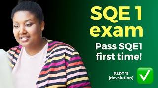 SQE1 training program 🧑🎓📚 (2021) Part 11 - Devolution