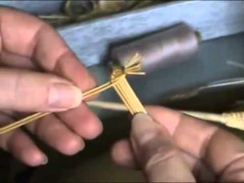 Плетение из соломы Лист спиралька.mp4