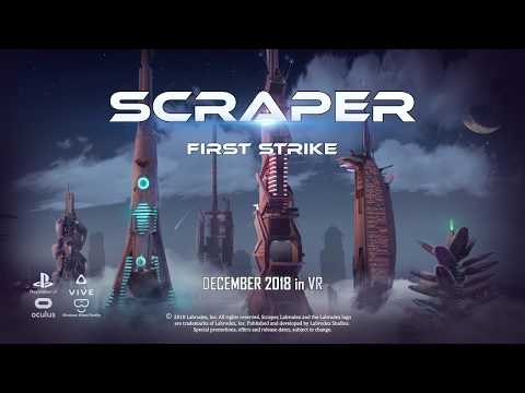 Funny video with dog in VR playing Scraper: First Strike