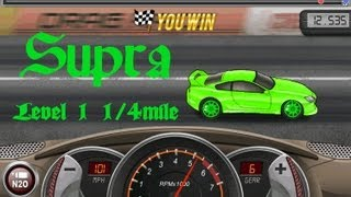 Drag Racing How To Tune A Level 1 Supra MK4 TT 12.535s 1/4 Mile!
