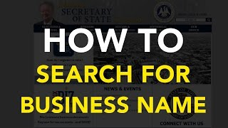 How to search your business name [Louisiana]