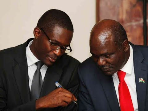 IEBC Chair Wafula Chebukati demand answers from CEO Chiloba concerning the August elections