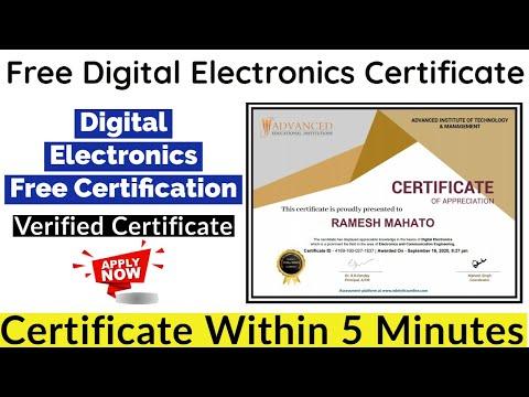 Digital Electronics Free Certification | Verified Certificate | Free ...