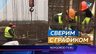 Мэр Сергей Бусурин проинспектировал строительство двух детских садов в Великом Новгороде
