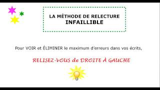 Vignette de La méthode de relecture infaillible !
