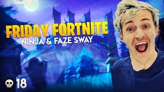 INSANE Friday Fortnite Win! Ninja & Faze Sway