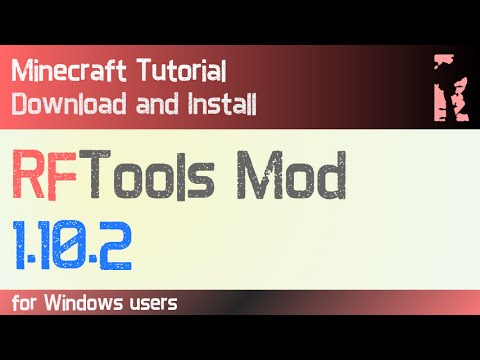 RFTOOLS MOD 1.10.2 minecraft - how to download and install (with forge on Windows)