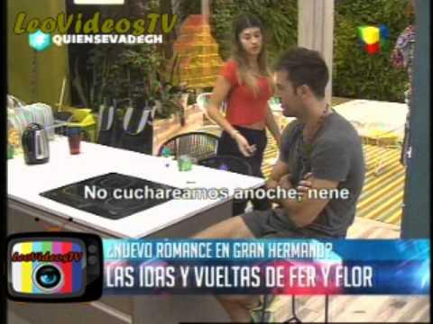 Fernando y Florencia comienzan una historia GH 2015 #GH2015 #GranHermano