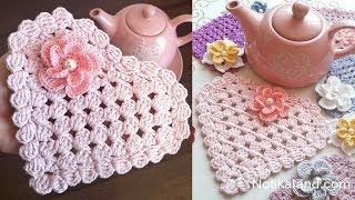 Crochet Doily EASY  Crochet Heart Doily Tutorial
