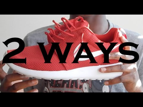 How to: How to Lace the Roshe Run (One)