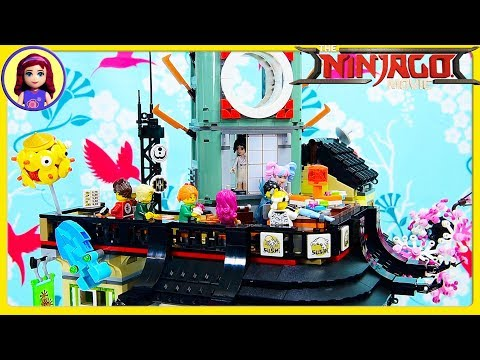 Ninjago City Lego Build the Sushi Restaurant High Rise Shops Review Kids Toys