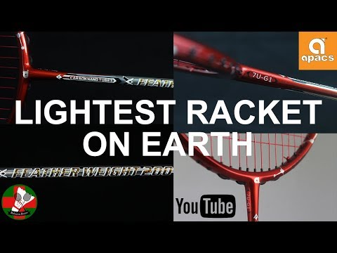 3rd LIGHTEST RACKET ON EARTH|APACS Feather Weight 200|(2018)Review|Badminton Doctors
