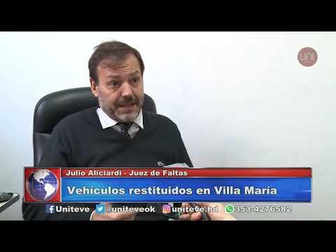 Vehículos restituidos en Villa María