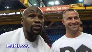 (keeping it real) Floyd Mayweather Response To Manny Pacquiao  EsNews Boxing
