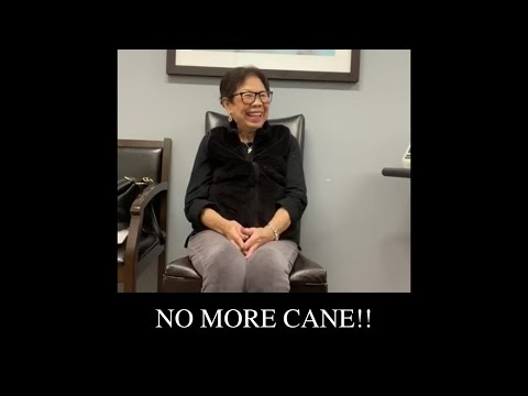 No more cane!!