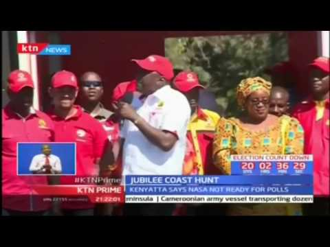 President Uhuru Kenyatta accuses NASA of engaging in theatrics while campaigning in Kwale