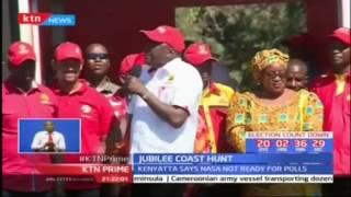 President Uhuru Kenyatta accuses NASA of engaging in theatrics while campaigning in Kwale