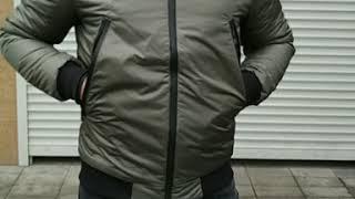 """Мужская утепленная куртка бомбер хаки от компании """"Slipa"""" интернет магазин одежды и обуви - видео"""