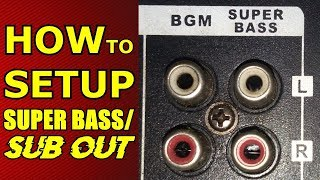 HOW TO USE SUPER BASS/SUB OUT on Integrated Amplifiers - Tutorial - Guide