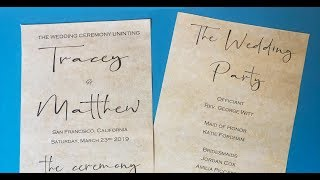 How to make a double sided wedding program using MS Word