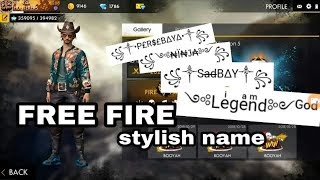 HOW TO CHANGE STYLISH NAME IN FREE FIRE BATTLEGROUNDS - Hài Trấn