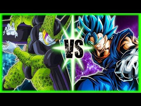 Perfect Cell Vs Vegito Blue