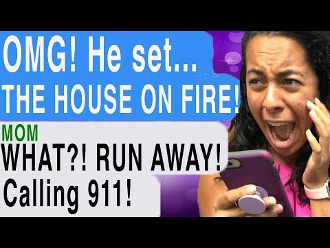 MY STALKER SET MY HOUSE ON FIRE!!! (Reunited | Cliffhanger | Scary Text Story)