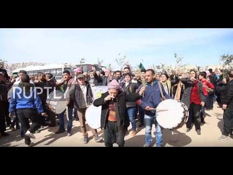 Syria: Convoy of Aleppo residents arrives in Afrin amid reports of YPG-Syrian govt. deal