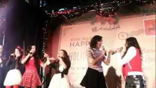Cimorelli singing Believe it at Santa Monica Place 11/17/12