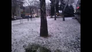 С первым снегом, Запорожье! Часть 2-я. :) Спустя 30 минут после части первой.