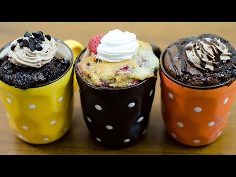 MUG CAKE RECIPES l EGGLESS & WITHOUT OVEN