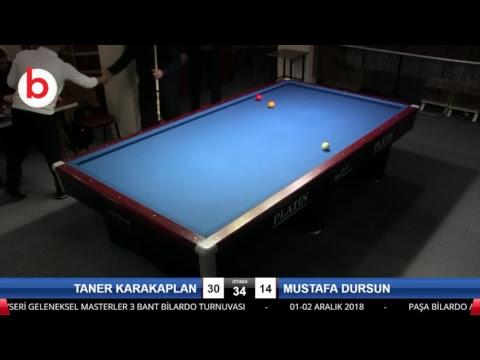 TANER KARAKAPLAN & MUSTAFA DURSUN Bilardo Maçı - KAYSERİ MASTERLAR  3 BANT TURNUVASI-1.TUR