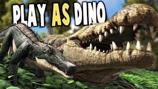 Ark Survival Evolved - PLAY AS GIANT DEINOSUCHUS, LATCHING RAPTORS - Ark Modded Gameplay