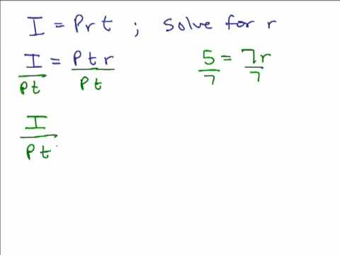Literal Equations And Formulas Write Literal Equation Using