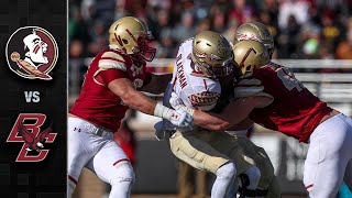 Florida State Vs. Boston College Football Highlights (2019)